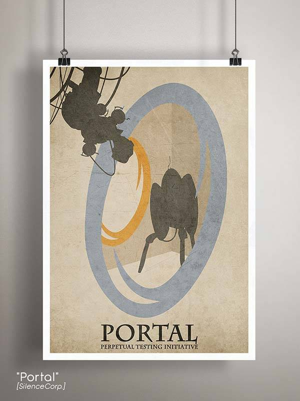 Gaming Room Poster Series - Portal