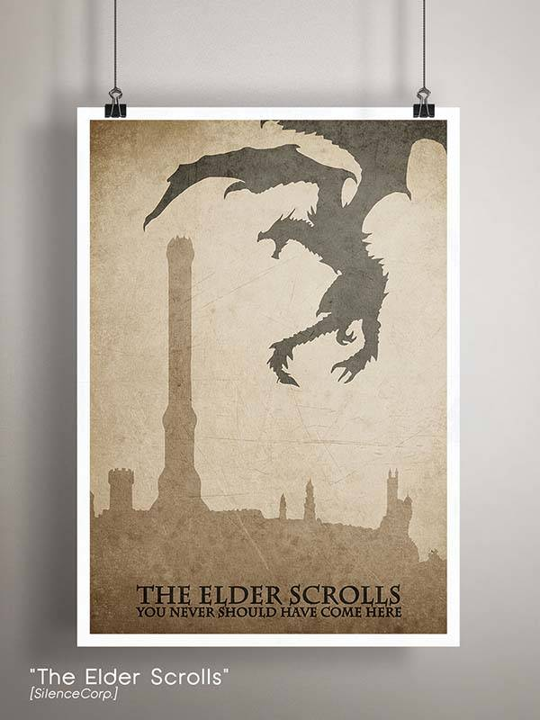 Gaming Room Poster Series - The Elder Scrolls
