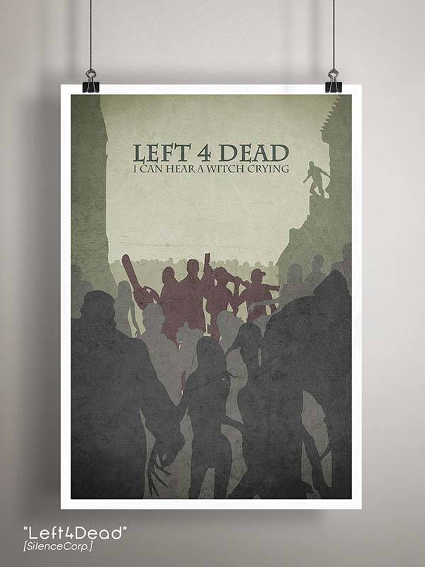 Gaming Room Poster Series - Left 4 Dead