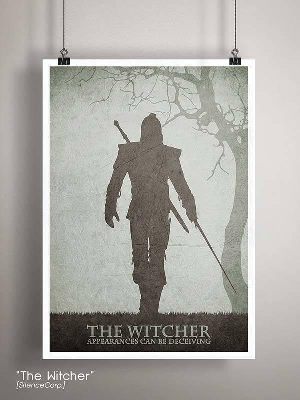 Gaming Room Poster Series - The Witcher