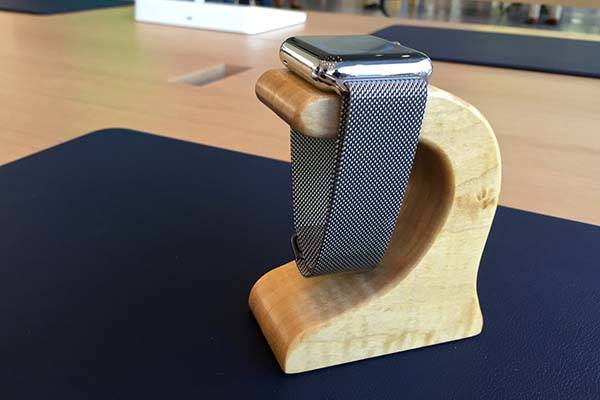 The Handmade Apple Watch Stand for Docking and Charging