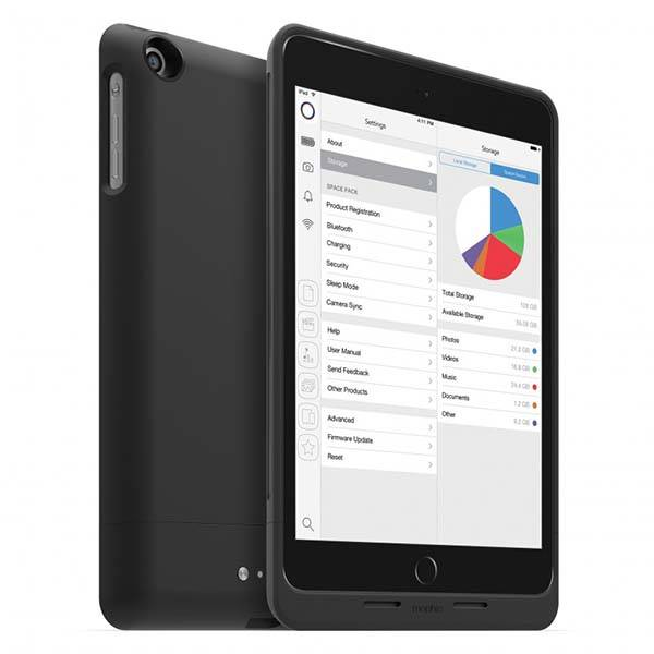 Mophie Space Pack iPad Mini Case with Integrated Storage and Power Bank