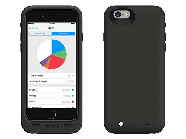 Mophie Space Pack iPhone 6 Battery Case with Extra Storage