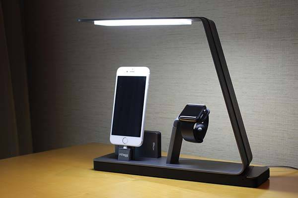 Nudock Smart Led Lamp With Power Bank And Charging Station