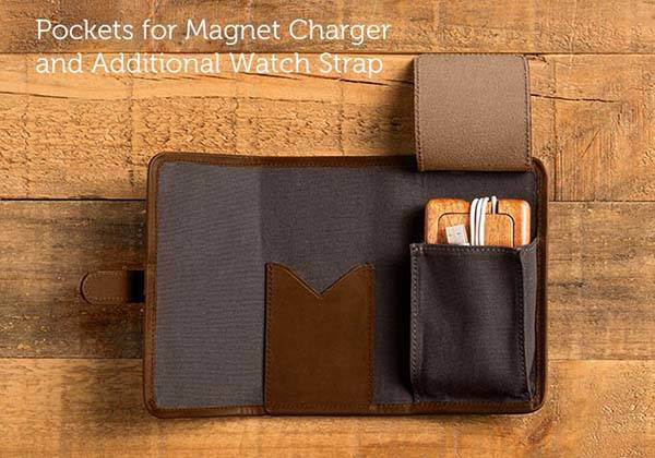 Pad&Quill Roll Up Kit for Your Apple Watch's Charger and Extra Straps