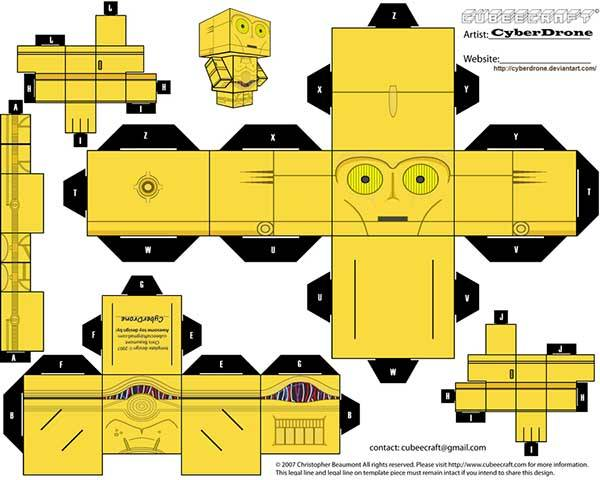 Star Wars Custom Papercraft Templates