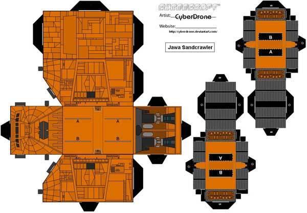 Star Wars Custom Papercraft Templates