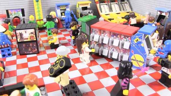 The Awesome Arcade Room Built with LEGO Bricks