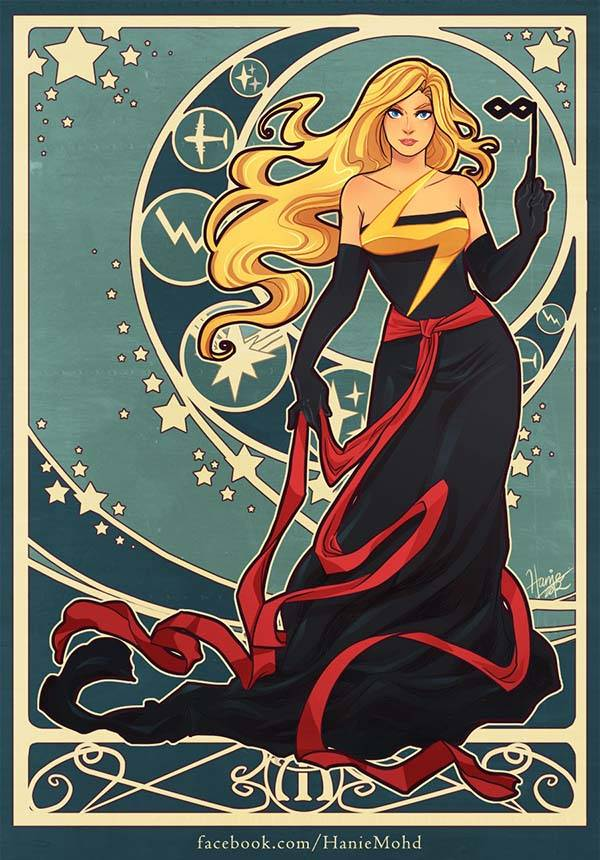The Charming Female Superhero Art Prints