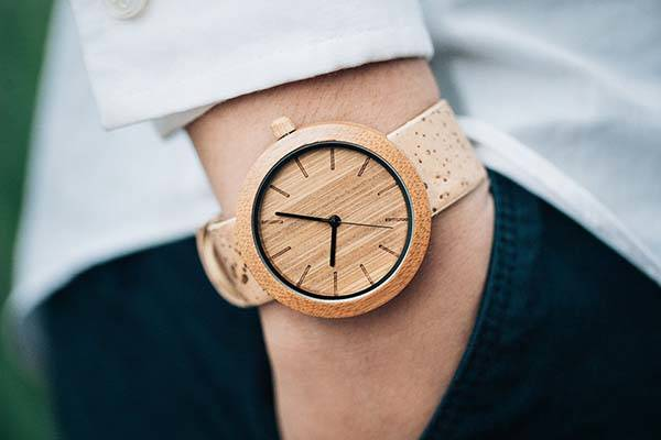 The Panda Watch Made of Natural Bamboo