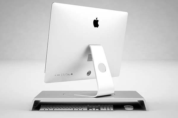 The Simple Desk iMac Stand Lets You Easily Rotate Your iMac