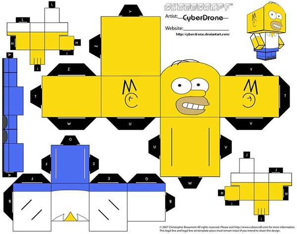 Make The Simpsons Papercrafts By Yourself: Papercraft V8 Engine Diagram At Johnprice.co