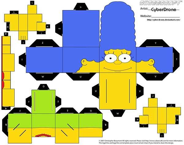 Make The Simpsons Papercrafts by Yourself