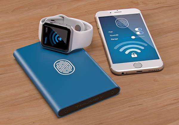 Thumby Bluetooth External Hard Drive Enclosure Guards Your Data with iPhone's Touch ID