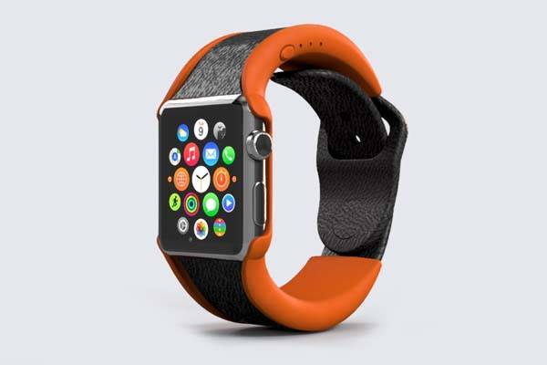 Wipowerband Apple Watch Band with Integrated Power Bank