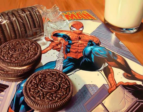 The Awesome Photorealistic Oil Paintings Boast Our Favorite Superheroes and Food