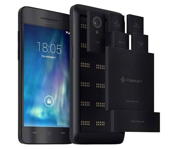 Fonkraft Modular Smartphone with Various Interchangeable Modules