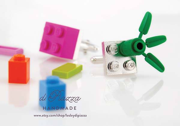 The Handmade LEGO Sterling Silver Cufflinks