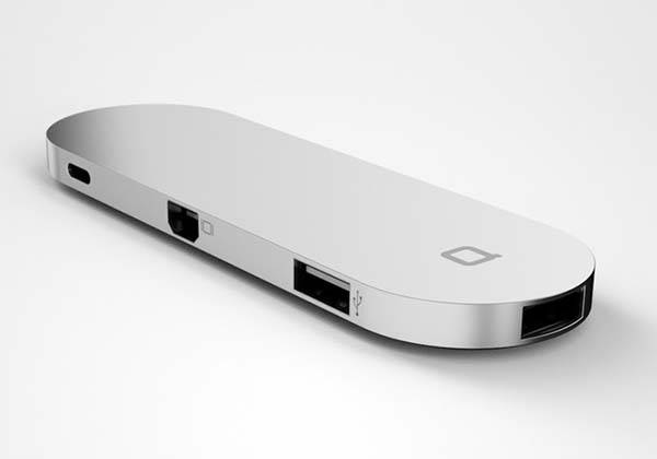 Hub+ Portable USB-C Docking Station with Built-In Backup Battery