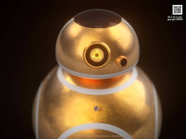 If Apple Designed BB-8 Droid in Star Wars: The Force Awakens