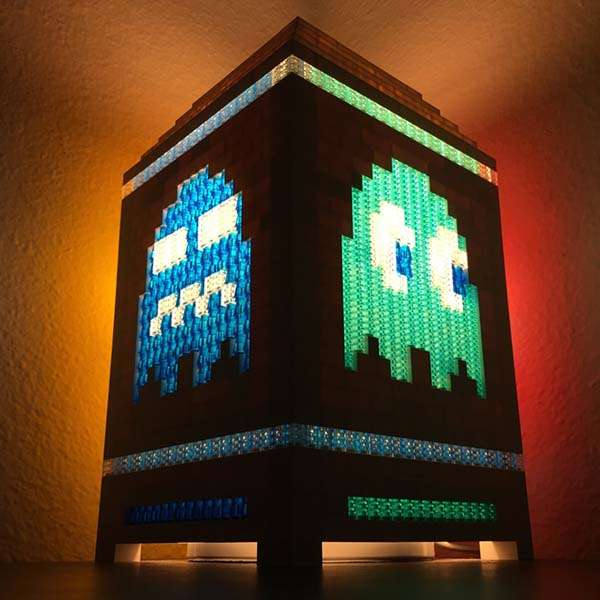 The Pac-Man Night Light Built with LEGO Bricks