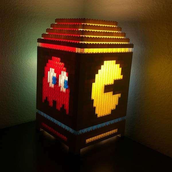 The Pac Man Night Light Built With LEGO Bricks