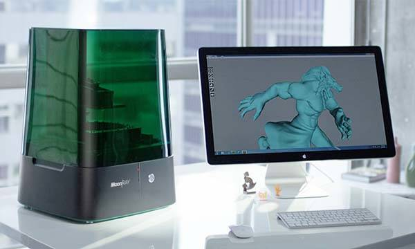 MoonRay Desktop 3D Printer Allows to Print Higher Resolution Models