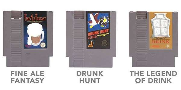 NES Cartridge Shaped Flasks
