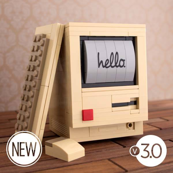 The Original Macintosh Built with LEGO Bricks