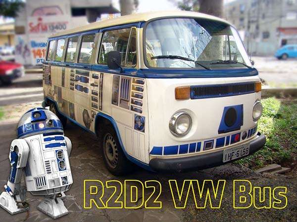 Customize a Star Wars R2-D2 VW Bus by Yourself