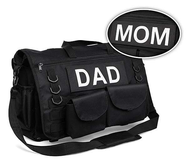 The Tactical Diaper Bag with 16 Pouches and Pockets