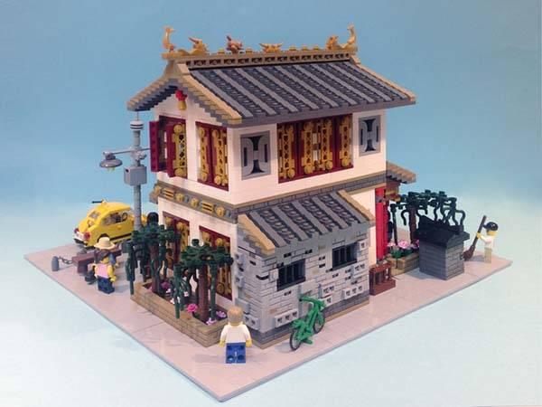 The Chinese Dim Sun Restaurant LEGO Set