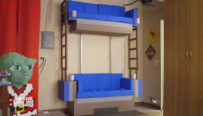 The Awesome Life-Size LEGO Double Deck Couch Created by Super Fan Builds