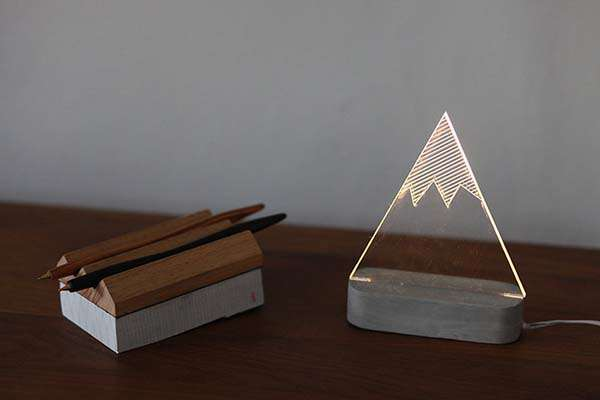 The Handmade Modern Concrete LED Lamps Add Aesthetics to Your Desktop