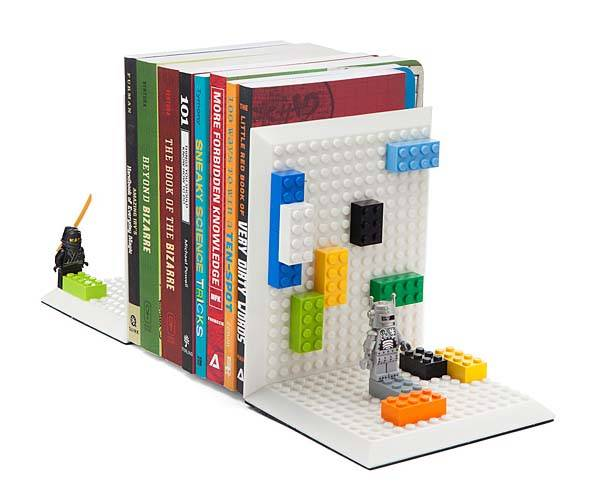 Build On Brick Bookends Compatible with Your LEGO Bricks