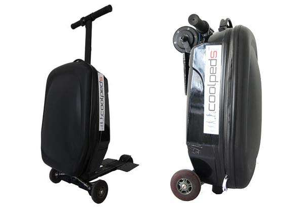 Coolpeds Briefcase Carry-on Suitcase with Integrated Electric Scooter