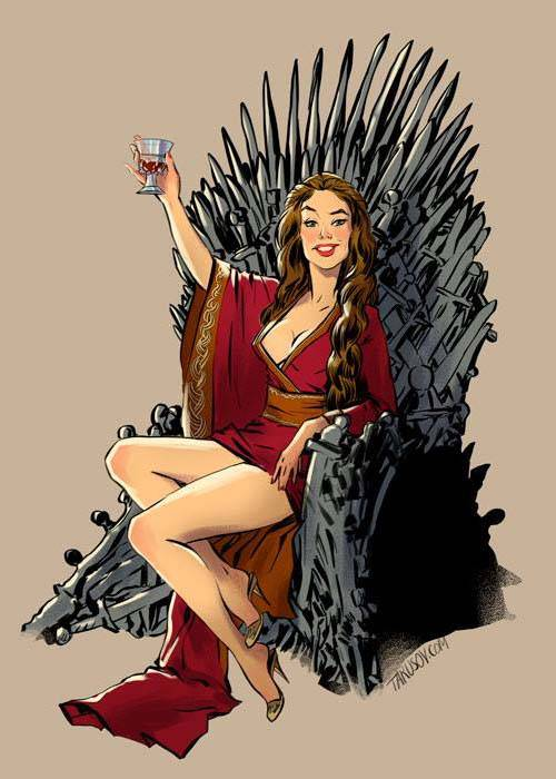 The Charming Game of Thrones Pin Ups by Andrew Tarusov