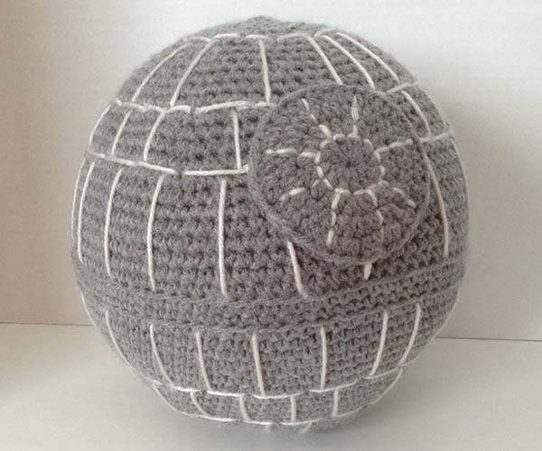 The Hand Crocheted Star Wars Death Star Pillow