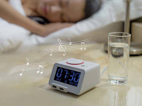 Homtime C1pro Alarm Clock with Bluetooth Speaker and USB Charger