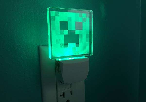 Minecraft Wall Light Mod : Minecraft Creeper Night Light Gadgetsin