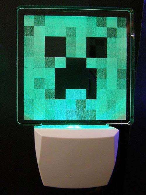 Minecraft Creeper Night Light