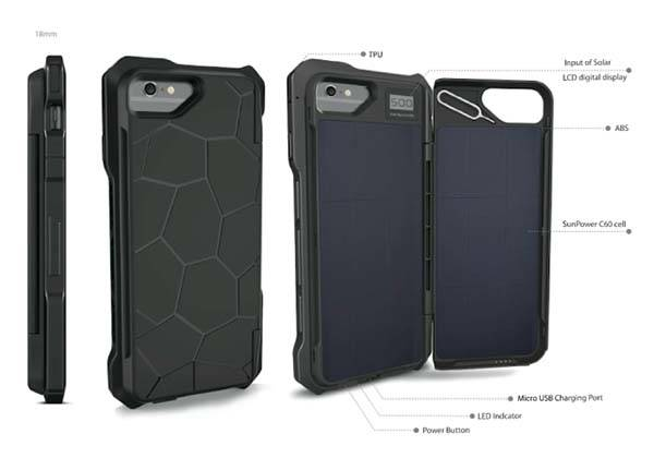 Sunny Solar Powered iPhone 6 Battery Case