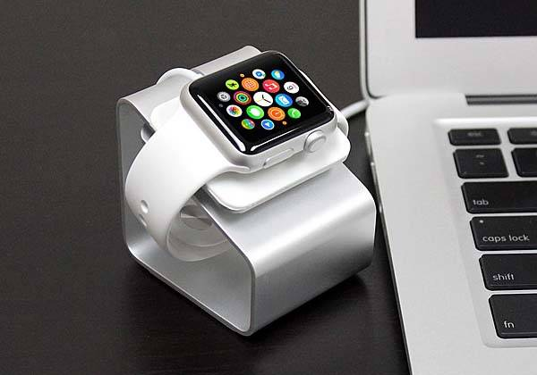 The Aluminum Apple Watch Charging Stand