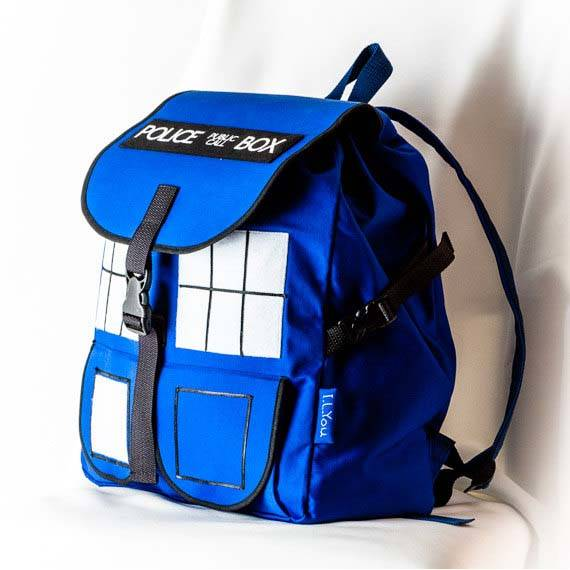 Handmade Doctor Who TARDIS School Backpack