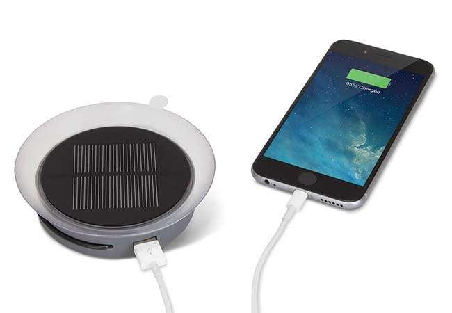 The Solar Portable Charger with a Suction Cup
