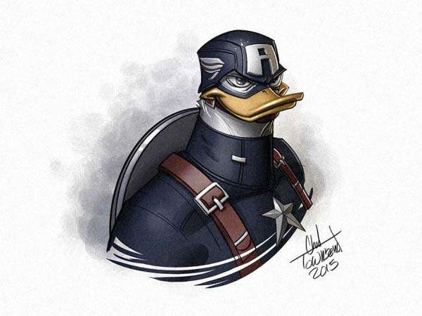 Mashups of Avengers and Ducktales