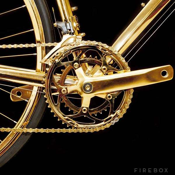 24K Gold Road Bike
