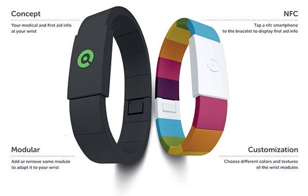 Amyko NFC-Enabled Medical and First Aid Wristband