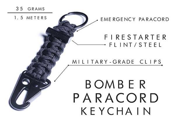Bomber Firestarter Paracord Bracelet