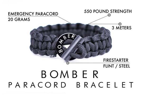 Bomber Firestarter Paracord Keychain with Carabiner